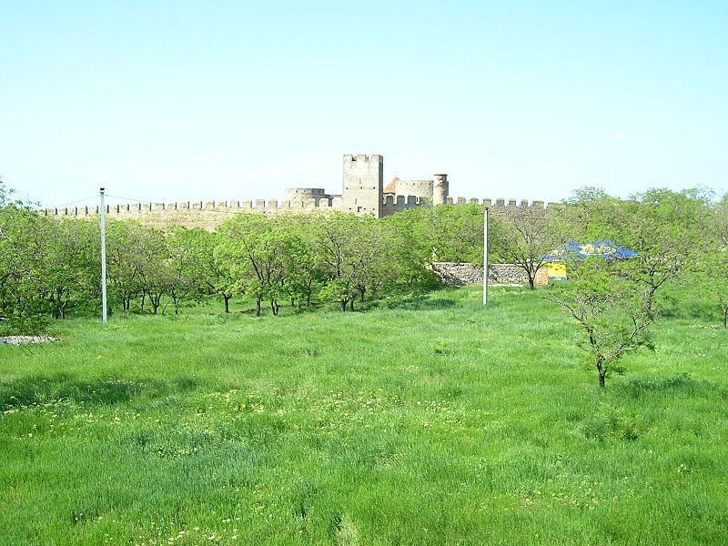 A view of the walls of the