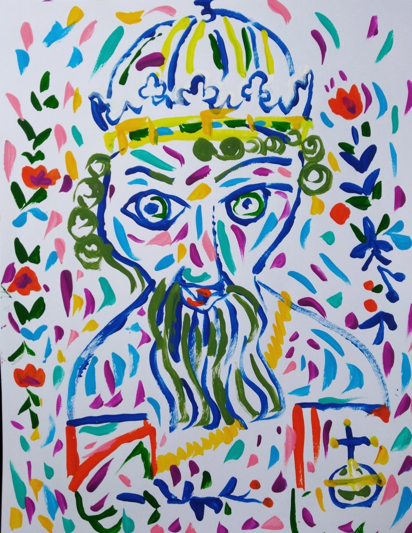El rey Sviatoslav. Cuadro por Artista Nairobi Prahl