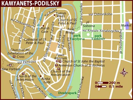 Ucrania Mapa - Kamianets-Podilskyi