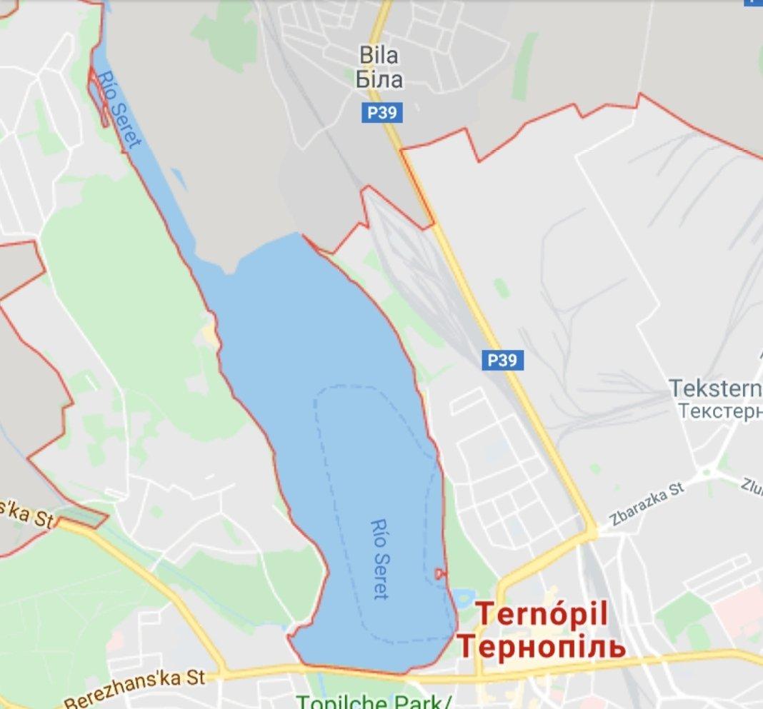 Ucrania mapa - Ternopil