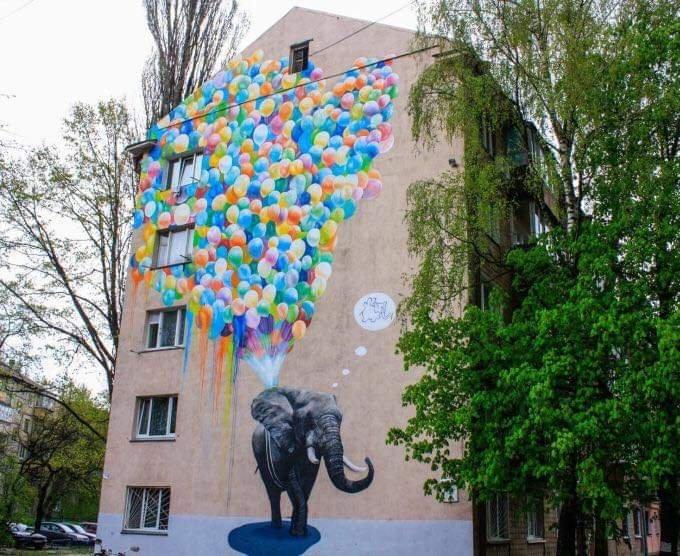 Murales de Ucrania mapa